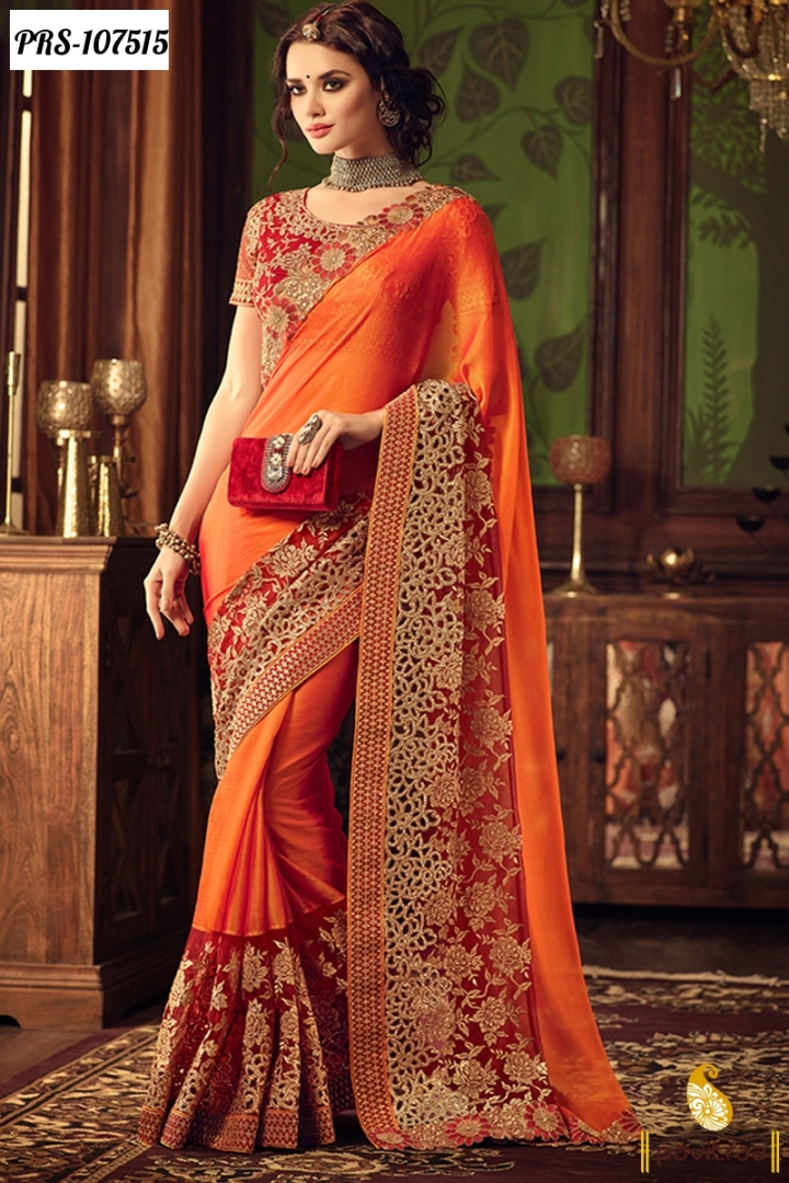 designer sarees for wedding reception with price – Ethnic ...